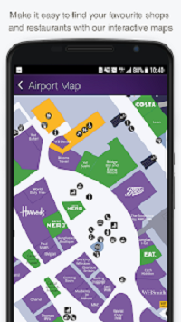 Android App LHR London Heathrow Airport